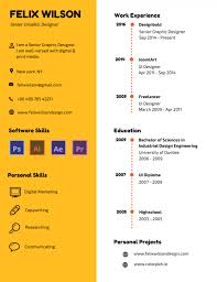 Best Resume For Graphic Designer by 50 Most Professional Editable Resume Templates For Jobseekers