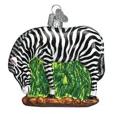 glass zebra ornament pets animals callisters