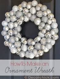 how to make a ornament wreath with a wire hanger