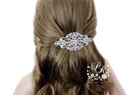 rhinestone hair wedding hair clip wedding barrette rhinestone hair clip bridal