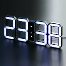 articles with lithium ion black and white digital wall clock tag