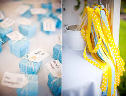 decor blue and yellow wedding decoration ideas tv above