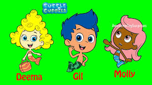 bubble guppies nick jr coloring page molly gil deema fun coloring