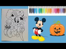 mickey mouse halloween coloring page disney coloring book