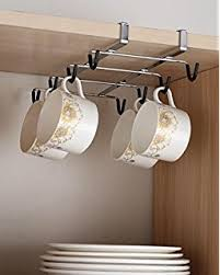 under cabinet coffee mug rack livivo under cabinet mug rack neatly hang store and display up