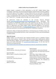 Cover Letter For Manuscript Submission Journal Essay Hobbes Studies 2017 Essay Competition European