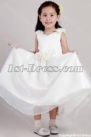 tea length little girls flower dresses with floral 2026 1st