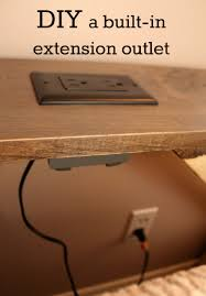 end table with outlet turtles and tails diy a built in extension outlet