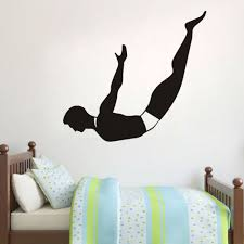 popular wall murals for teens rooms buy cheap wall murals for diver diving vinyl wall stickers design home removable waterproof silhouette poster mural wall decals for gym teens room sa017b