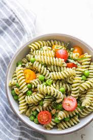 salad pasta pesto pasta salad recipe simplyrecipes com