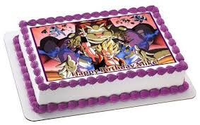 dragon ball z edible birthday cake or cupcake topper u2013 edible
