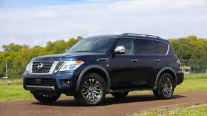 nissan minivan 2018 what u0027s on the 2018 nissan armada platinum reserve suv and how