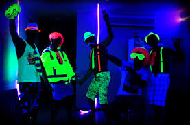 black light party clothes jellowrestlingsupply glow parties