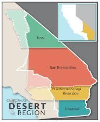 california map desert region california deserts