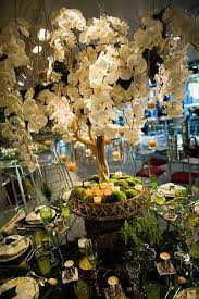 orchid centerpiece orchid tree with moss exclusively weddings wedding ideas