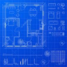 blueprint floor plan detailed illustration of a blueprint floorplan with various design