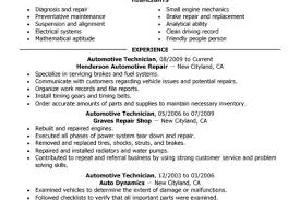 Automotive Resume Examples by Auto Tech Resume Sample Reentrycorps