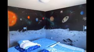space mural in kids room youtube