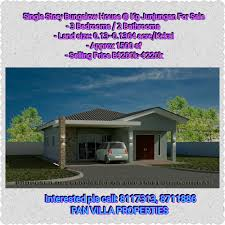 pan villa properties u2013 new single storey bungalow house for sale