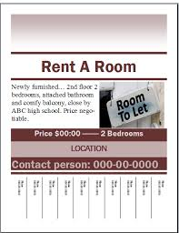 rent a room flyer template u2013 publisher flyer templates