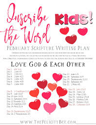 inscribe the word kids february scripture writing plan