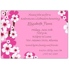 retirement invitations cherry blossoms pink retirement invitations paperstyle