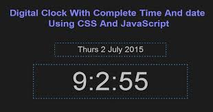 format date javascript jquery digital clock with complete time and date using css and javascript