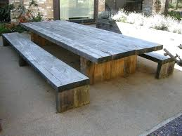 reclaimed wood outdoor table outdoor wood picnic table best paint for outdoor wood picnic table