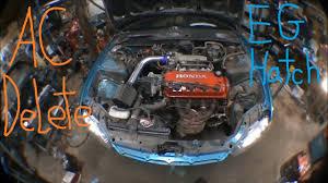 lexus sc300 ac compressor honda civic eg hatch ac removal for turbo youtube