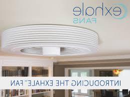 no blade ceiling fans ceiling fan ceiling fan exhale g3 snow white buy an bladeless
