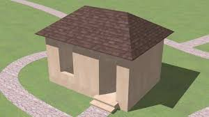 pyramid hip roof house plans youtube