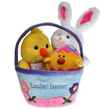 basket easter plush easter basket for baby toddler kids of all