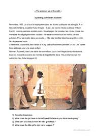 Ruby Bridges Worksheets A Painting By Norman Rockwell With Questions Worksheet Free Esl