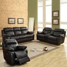 Leather Reclining Sofa Set by Black Leather Reclining Sofa Ebay Tehranmix Decoration