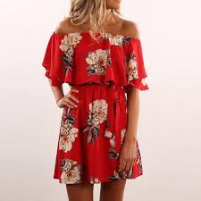 summer dress floral shoulder summer dress avalon88