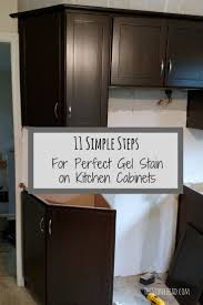 Java Gel Stain Cabinets Gel Stain Kitchen Cabinets Before After Modern Cabinets