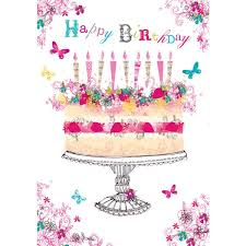 foil birthday cake birthday card by british heart foundation