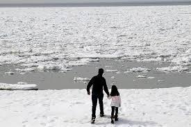 mini icebergs washing ashore along cape cod the boston globe