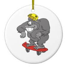 gorilla christmas tree decorations u0026 ornaments zazzle co uk