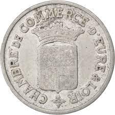 chambre de commerce de l eure 85555 eure et loir chambre de commerce 25 centimes 1922 elie 10 3