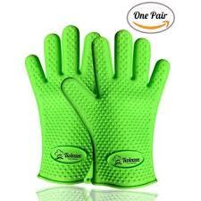 gant de cuisine anti chaleur paire de gants de cuisine anti chaleur en silicone plats chauds