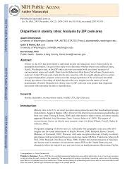 Seattle Washington Zip Code Map by Disparities In Obesity Rates Analysis By Zip Code Area Pdf