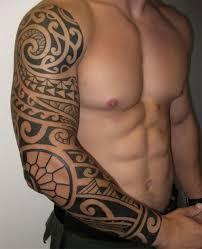 cool polynesian tribal sleeve designs for ideas