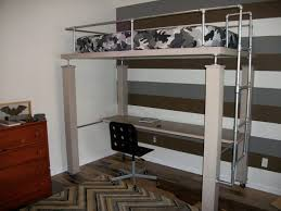 Full Size Bed With Desk Under Bunk Beds Loft Bed Desk Combo Queen Loft Bed With Desk Full Size