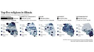 Chicago Illinois On Map by Religion Census Chicago Tonight Wttw