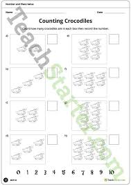 teaching resource a crocodile themed place value worksheet to use
