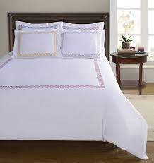 Embroidered Duvet Cover Sets Simple Luxury Clayton 3 Piece Embroidered Reversible Duvet Cover