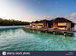 water bungalows on paradise island indian ocean lankanfinolhu