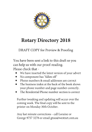 rotary directory 2018 issuu draft by george teasdale issuu