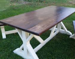 The Aiden Reclaimed Barn Wood Dining Table Farmhouse Table - Barnwood kitchen table